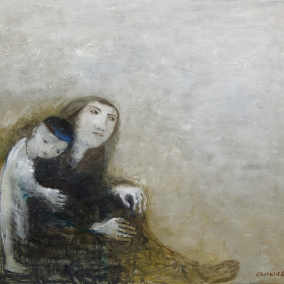 7Anwar Abdoullaev, Moeder en kind, 2016, 80x90, o-d