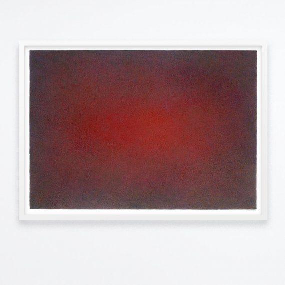 Jan van der Scheer - Rood - aquarel op papier - 70x100cm